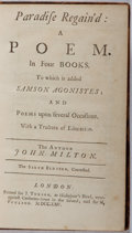 Books:Literature Pre-1900, John Milton. Paradise Regain'd: A Poem in Four Books. Tonson& Poulson, 1725. Sixth edition. Full calf with crac...