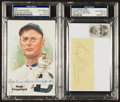 Baseball Collectibles:Others, Heilmann and Crawford Signed Cut Displays. ...