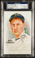 Baseball Collectibles:Others, Arky Vaughan Signed Cut Display. ...