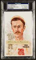 Baseball Collectibles:Others, Kid Nichols Signed Cut Display. ...