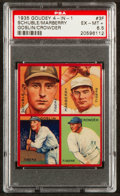 Baseball Cards:Singles (1930-1939), 1935 Goudey Goslin/Schuble/Crowder/Marberry #3F PSA EX-MT+ 6.5 -Pop One, Highest! ...
