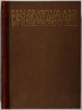 Books:Art & Architecture, Joseph Pennell. SIGNED/LIMITED. Pen Drawing and Pen Draughtsmen. Macmillan, 1920. First edition, first printing. L...