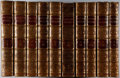 Books:Literature Pre-1900, Francis Bacon. The Works. Vol. I-X. Baynes, 1824.Contemporary calf with light rubbing and wear. One volume appe...(Total: 10 Items)