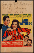 """Movie Posters:Comedy, A Very Young Lady (20th Century Fox, 1941). Window Card (14"""" X 22""""). Comedy.. ..."""