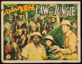 "Movie Posters:Adventure, Law of the Jungle (Monogram, 1942). Half Sheet (22"" X 28"").Adventure.. ..."