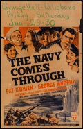 "Movie Posters:War, The Navy Comes Through (RKO, 1942). Window Card (14"" X 22""). War....."