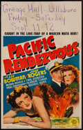 "Movie Posters:War, Pacific Rendezvous (MGM, 1942). Window Card (14"" X 22""). War.. ..."