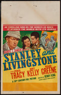 "Movie Posters:Adventure, Stanley and Livingstone (20th Century Fox, 1939). Window Card (14""X 22""). Adventure.. ..."