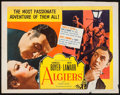 "Movie Posters:Adventure, Algiers (United Artists, R-1953). Half Sheet (22"" X 28"").Adventure.. ..."