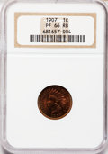 Proof Indian Cents, 1907 1C PR66 Red and Brown NGC....