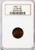 Proof Indian Cents, 1882 1C PR66 Red and Brown NGC....
