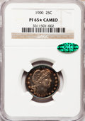 Proof Barber Quarters, 1900 25C PR65 ★ Cameo NGC. CAC....