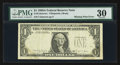Error Notes:Missing Third Printing, Fr. 1915-? $1 1988A Federal Reserve Note. PMG Very Fine 30.. ...
