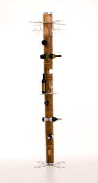 EZRI TARAZI (Israel, 20th Century) Bamboo Totem: Wine Rack, 2010 Benefitting The Nature Conservan