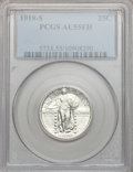 Standing Liberty Quarters, 1919-S 25C AU55 Full Head PCGS....