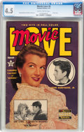 Golden Age (1938-1955):Non-Fiction, Movie Love #8 (Famous Funnies, 1951) CGC VG+ 4.5 Slightly brittlepages....