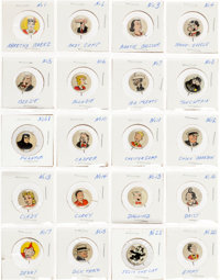 Pep Comic Character Litho Button Complete Set (Kellogg's, 1945).... (Total: 86 Items)