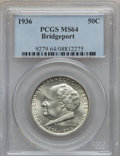 Commemorative Silver: , 1936 50C Bridgeport MS64 PCGS. PCGS Population (1814/2308). NGCCensus: (1057/1570). Mintage: 25,015. Numismedia Wsl. Price...