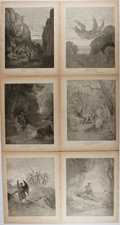 Books:Prints & Leaves, Gustave Dore. Group of Six Nineteenth-Century Prints Taken fromMilton's Paradise Lost. Approx. 12 x 9.5 inches. Ver...