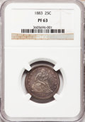 Proof Seated Quarters, 1883 25C PR63 NGC....