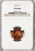 Proof Indian Cents, 1878 1C PR65 Red NGC....