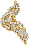 Estate Jewelry:Brooches - Pins, Diamond, Gold Brooch. ...