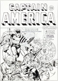 "Original Comic Art:Covers, Joe Simon Captain America Comics #5 ""The Ringmaster ofDeath"" Cover Re-Creation Original Art (undated)...."