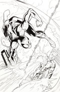 Original Comic Art:Covers, Mark Bagley and Mark Morales Avengers vs. X-Men #4 VariantCover Original Art (Marvel, 2012)....