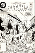Original Comic Art:Covers, George Perez and Romeo Tanghal The New Teen Titans #18 Cover Original Art (DC, 1982)....