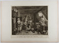 Books:Prints & Leaves, William Hogarth. Engraved Print Entitled, The Distrest Poet.1740. Approx. 14 x 16 inches and mounted to paper. Near...