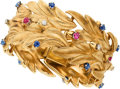 Estate Jewelry:Bracelets, Diamond, Sapphire, Ruby, Gold Bracelet, Serafini. ...