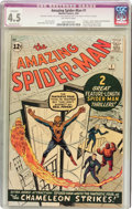 Silver Age (1956-1969):Superhero, The Amazing Spider-Man #1 (Marvel, 1963) CGC Apparent VG+ 4.5Extensive (P) Off-white pages....