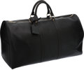 Luxury Accessories:Travel/Trunks, Louis Vuitton Black Epi Leather Keepall 55 Weekender Bag. ...