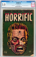 Golden Age (1938-1955):Horror, Horrific #3 (Comic Media, 1953) CGC GD/VG 3.0 Off-white to whitepages....