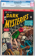 Golden Age (1938-1955):Horror, Dark Mysteries #19 (Master Publications, 1954) CGC PR 0.5 Off-whiteto white pages....
