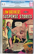 Golden Age (1938-1955):Horror, Lawbreakers Suspense Stories #11 (Charlton, 1953) CGC VG+ 4.5Off-white to white pages....