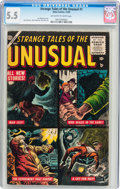 Golden Age (1938-1955):Horror, Strange Tales of the Unusual #1 (Atlas, 1955) CGC FN- 5.5 Off-whiteto white pages....