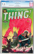 Golden Age (1938-1955):Horror, The Thing! #2 (Charlton, 1952) CGC VF- 7.5 White pages....