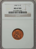 Lincoln Cents: , 1947-S 1C MS67 Red NGC. NGC Census: (900/0). PCGS Population(133/0). Mintage: 99,000,000. Numismedia Wsl. Price for proble...