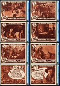"""Movie Posters:Western, Winners of the West (Universal, 1940). CGC Graded Lobby Card Set of 8 (11"""" X 14""""). Chapter 3 -- """"The Bridge of Disaster."""". ... (Total: 8 Items)"""
