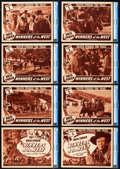 """Movie Posters:Western, Winners of the West (Universal, 1940). CGC Graded Lobby Card Set of8 (11"""" X 14""""). Chapter 5 -- """"Death Strikes the Trail."""". ... (Total:8 Items)"""