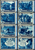 "Winners of the West (Universal, 1940). CGC Graded Lobby Card Set of 8 (11"" X 14""). Chapter 8 -- ""The Flam..."