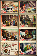 "Movie Posters:Adventure, Arabian Nights (Universal, 1942). Lobby Card Set of 8 (11"" X 14"")..... (Total: 8 Items)"