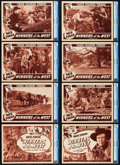 "Movie Posters:Western, Winners of the West (Universal, 1940). CGC Graded Lobby Card Set of8 (11"" X 14""). Chapter 10 -- ""Under Crashing Timbers."". ... (Total:8 Items)"