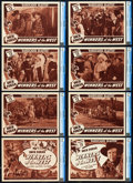 "Movie Posters:Western, Winners of the West (Universal, 1940). CGC Graded Lobby Card Set of 8 (11"" X 14""). Chapter 13 -- ""Barricades Blasted."". ... (Total: 8 Items)"