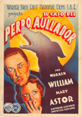 "Movie Posters:Crime, Case of the Howling Dog (Warner Brothers-First National, 1935).Spanish One Sheet (27.5"" X 39"").. ..."