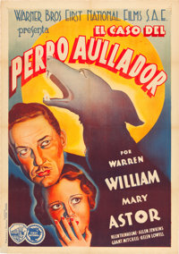 "Case of the Howling Dog (Warner Brothers-First National, 1935). Spanish One Sheet (27.5"" X 39"")"