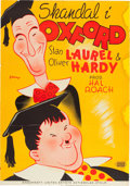 "Movie Posters:Comedy, A Chump at Oxford (United Artists, 1940). Swedish Poster (27.5"" X39""). From the Leonard and Alice Maltin Collection.. ..."
