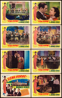 "The Bronze Venus (Toddy Pictures, R-1943). Lobby Card Set of 8 (11"" X 14""). From the Leonard and Alice Maltin..."
