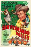 "Movie Posters:Western, San Fernando Valley (Republic, 1944). One Sheet (27"" X 41""). From the Leonard and Alice Maltin Collection.. ..."